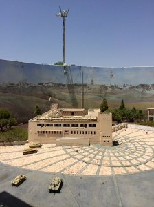 The fort at Latrun, in miniature, at Mini-Israel.