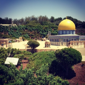The Temple Mount, Jerusalem, in miniature